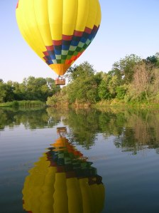 HOT AIR BALLOON REFLECTION