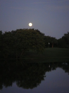 FULL MOON REFLECTION